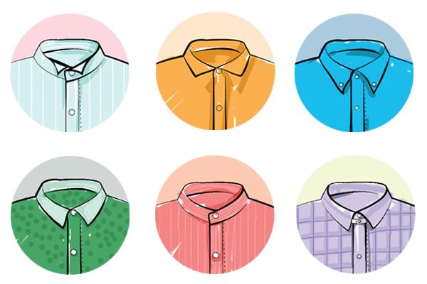 """入秋伊始,天气多变,早晚凉中午热,穿外套办公室里嫌热,穿短袖上班路上嫌凉,这个时候如果能有一件应对季节尴尬又凹造型的衬衫真是一件幸福的事情。  一、 穿之前,先认""""领"""" 时尚的更迭使得衬衫无论是在款式还是材质方面都有了更多的选择性。面对纷繁的款式,如何挑选一件适合自己的衬衫成了一件值得推敲的事情。而领型就是你选择衬衫时最重要的依据没有之一。  1、翼领 领口立起的同时,领尖外翻,多与礼服搭配在正式的宴会场合穿着,在日常生活中很少出现。 2、温莎领 因为著名的温莎公爵而得名,又称宽角"""
